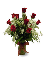 Dozen Roses from Ladybug's Flowers & Gifts, local florist in Tulsa