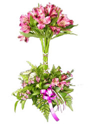 Alstroemeria Topiary from Ladybug's Flowers & Gifts, local florist in Tulsa