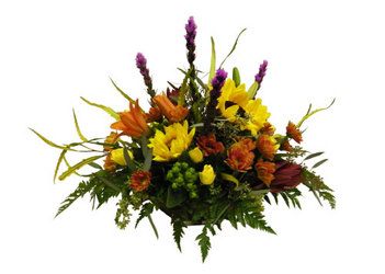 Thanksgiving Centerpiece from Ladybug's Flowers & Gifts, local florist in Tulsa