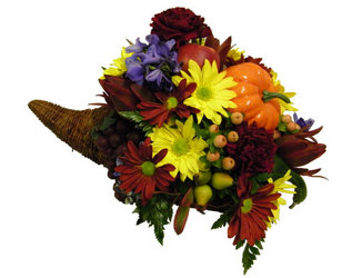 Floral Cornucopia  from Ladybug's Flowers & Gifts, local florist in Tulsa