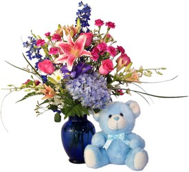 Blue for baby and me.. from Ladybug's Flowers & Gifts, local florist in Tulsa