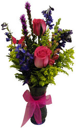 Pink Tribute Vase from Ladybug's Flowers & Gifts, local florist in Tulsa