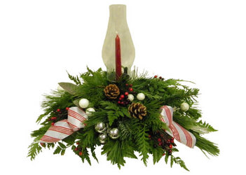 Classic Christmas Centerpiece from Ladybug's Flowers & Gifts, local florist in Tulsa