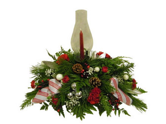 Holiday Centerpiece from Ladybug's Flowers & Gifts, local florist in Tulsa
