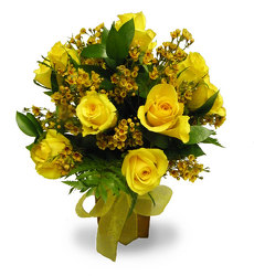 Dozen Yellow Roses from Ladybug's Flowers & Gifts, local florist in Tulsa