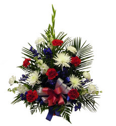 Veteran's Basket from Ladybug's Flowers & Gifts, local florist in Tulsa